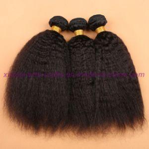 Top Quality Indian Virgin Human Hair Bundles Virgin Hair Weaving Products Virgin Kinky Straight Hair Extensions pictures & photos