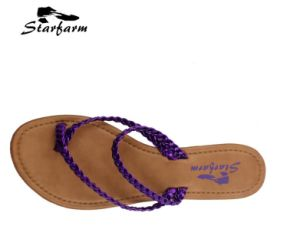 Promotional Summer Beach Lady Flip Flops pictures & photos