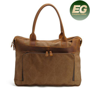 Best Selling Brown Waxed Canvas Handbag Men Messenger Bag Leather Ga11 pictures & photos