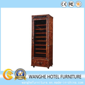 Hotel Suit Furniture Luxury Leather Wine Cabinet pictures & photos