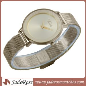 OEM Mesh Belt Band Ladies Stainless Steel Wrist Watches pictures & photos