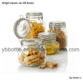 100ml Gift Packing Air-Tight Square Glass Jar