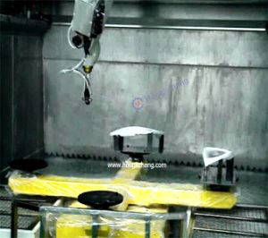 Car Spare Parts Robotic UV Hard Coating Line pictures & photos