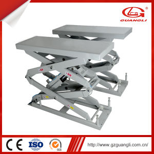 Guangli Factory Garage Type Automatic Scissor Car Lift 3000 pictures & photos