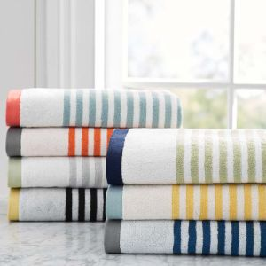 Wholesale Professional Cotton Yarn Dyed Stripe Sports Towels pictures & photos