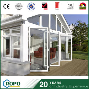 UPVC Glass Doors and Windows Tempered Bi Fold Door with Hinges pictures & photos