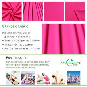 Textile Fabric Knitted Yarn Dyed Recycled Polyester Spandex Fabric pictures & photos