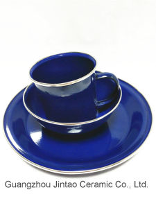 Enamel Tableware as Mug Bowl Saucer pictures & photos