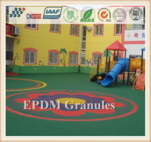 Colorful EPDM Crumb Rubber Granules Spray Granules pictures & photos