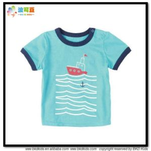 Cotton Jersey Children Wear Blue Color Chidren Shirts pictures & photos