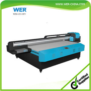 Large Format 1.3m*2.5m LED UV Flatbed Printer for Wood and Acrylic Printing pictures & photos