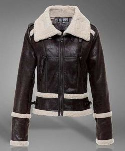 Fake Fur Collar Cultivate One′s Morality PU Jacket pictures & photos