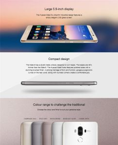 "Huawei Mate 9 4G FDD Lte Android 7.0 Octa Core 5.9"" FHD 1920X1080 4GB RAM 64GB ROM 20.0MP +12MP Leica Dual Rear Camera NFC Fingerprint Smart Phone Cellulare pictures & photos"