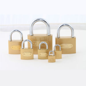 Factory Supply High Quality Imitate Brass Padlock with Logo Stick pictures & photos