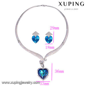 Set-33 Fashion Jewelry Rhodium Crystal Heart Shaped Wedding Jewelry Set pictures & photos