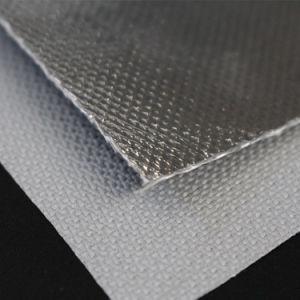 Silicone Rubber Aluminum Coated Fiberglass Radiant Heat Reflective Fabric pictures & photos