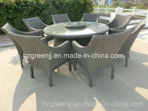 Round Dining Set with Lazy Susan 9 Pieces Rattan Furniture pictures & photos