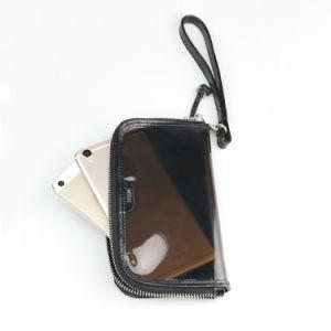 Fashion Patent Leather iPhone Wristlet Bag Transparent PVC Plastic Wallet pictures & photos