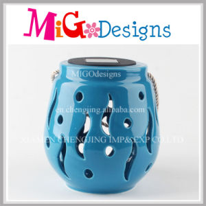 Customized Blue Ceramic Oil Tart Burner pictures & photos