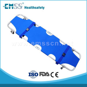 Hot Selling Edj-004A Aluminum Alloy Wheeled Foldimg Stretcher
