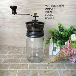Hot Sell 16 Oz Manual Glass Mason Jar for Coffee Bean Grinder Mill for Kitchen pictures & photos