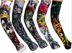 Custom Print Anti UV Various Nylon Sport Tattoo Arm Sleeve pictures & photos