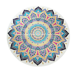 Beautiful Eco Friendly Printed Round Yoga Mat. Designed for Yoga, Meditation pictures & photos