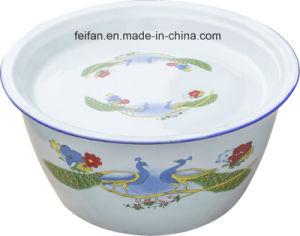 Enamel Washing Bowl with Cover/Finger Bowl/Belly Type Finger Bowl pictures & photos