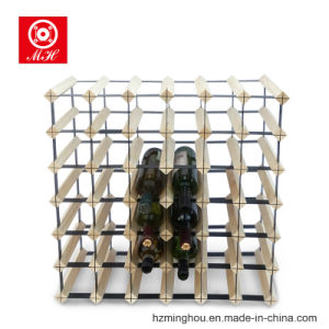 42 Bottles Solid Wood Furniture Wine Rack with Metal Pieces pictures & photos