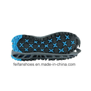 OEM Leisure Damping Sole Wear-Resisting Antiskid Outdoor Shoe Soles (FF1228-1) pictures & photos