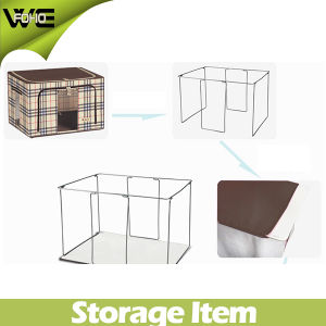 Fashion Collapsible Food Storage Cabinet Foldable Storage Box Bins pictures & photos