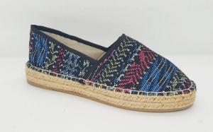 Women′s Casual Canvas Jute Flat Shoes