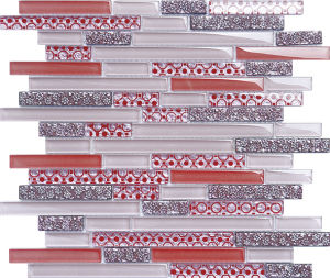Strip Flower Pattern Glass Mosaic for Decorating pictures & photos