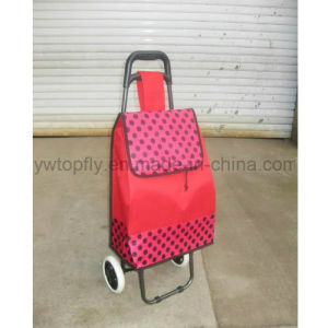 2 Wheel Store Shopping Luggage Smart Metal Supermarket Trolley Cart pictures & photos