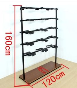 Wooden Steel Metal Shoes Rack for Display (AL-0092) pictures & photos