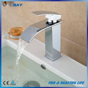 Hot Selling Chrome Brass Waterfall Bathroom Basin Faucet pictures & photos