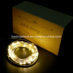 Silver Wire Remote Control Mini Micro LED String Lights Low Voltage Adapter Operated pictures & photos