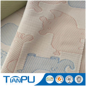 Hangzhou Latex Mattress Polyester Knitted Mattress Ticking Fabric pictures & photos
