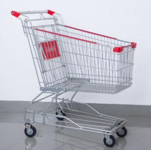 Hand Shopping Cart Supermarket Steel Trolley pictures & photos