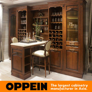 Oppein Classic Birch Solid Wood Wine Cabinet (JG0541628) pictures & photos