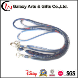 Customized Woven Logo Polyester Cord Rope Lanyard for Card pictures & photos