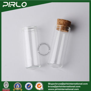 5ml Round Bottom Clear Glass Vial Essential Oil Perfume Tester Glass Bottle with Wood Cork Stopper Empty 5ml Cosmetic Bottle pictures & photos