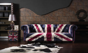 UK Flag Fabric Sofa pictures & photos