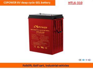 Cspower 6V310ah Deep Cycle Gel Battery for Golf Cart pictures & photos