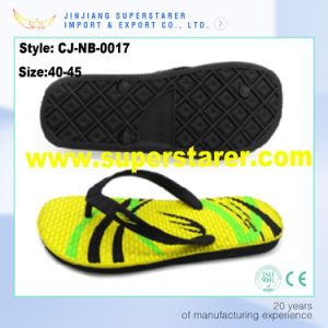 Cheap Printed EVA Sole Unisex Flip Flops Bath Slippers pictures & photos