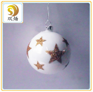 2016 Christmas Glass Ornament Ball with Star