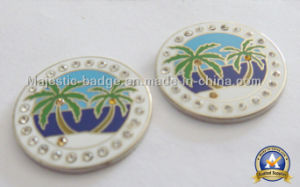 Silver Plated Customized Golf Ball Marker (Hz-1001-053) pictures & photos