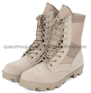 OEM Leather Suede Desert Combat Tactical Military Boots pictures & photos