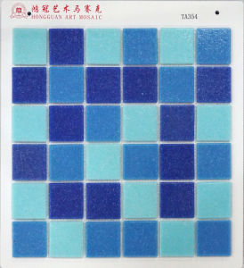 Blue DOT Glass Mosaic Cheap Price 4USD Per M2 pictures & photos