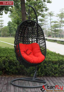Indoor Outdoor Wicker Hanging Egg Swing Chair with Metal Stand pictures & photos